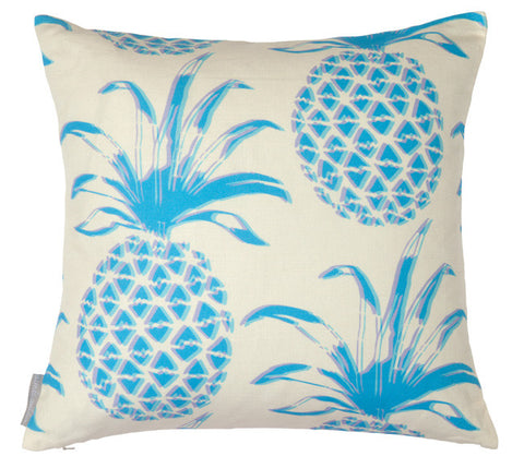 Piña Azul Square Pillow