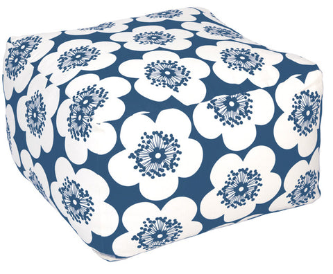 Pop Floral Ink Pouf