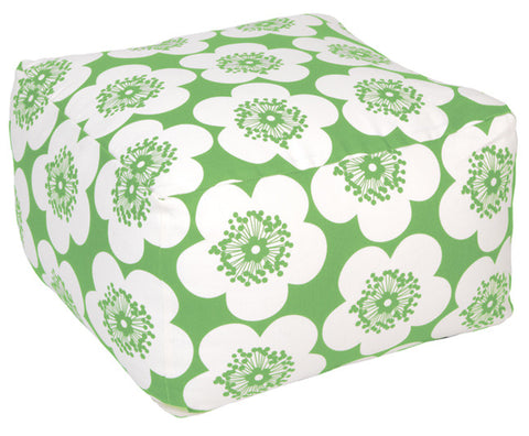 Pop Floral Leaf Pouf