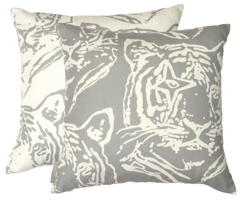Star Tiger Tin Inverted Square Pillow