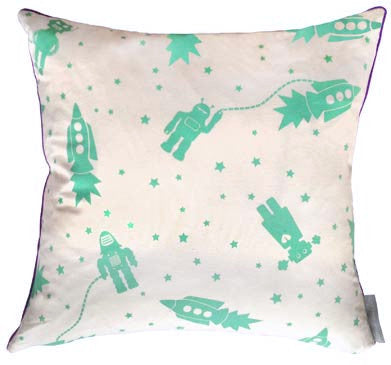 Astrobots Ocean Square Pillow