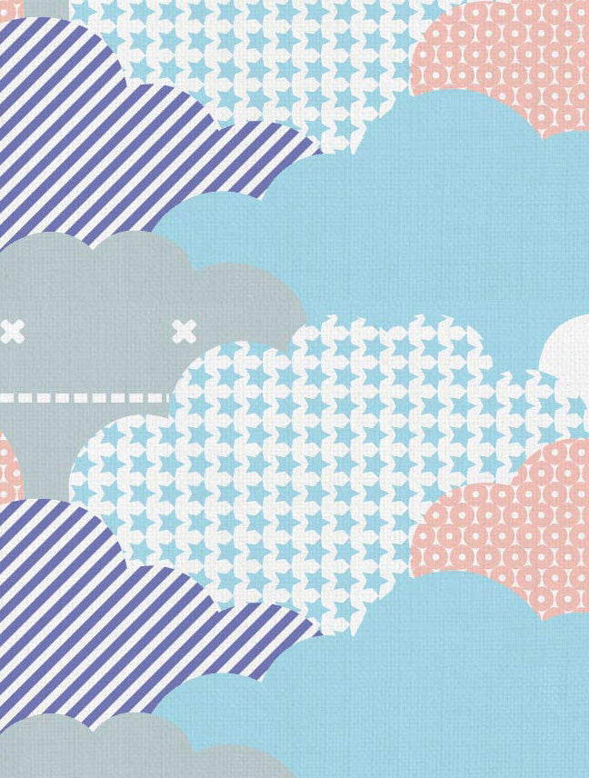 Clouds Designer Fabric By Aimee Wilder Sold By The Yard Made In