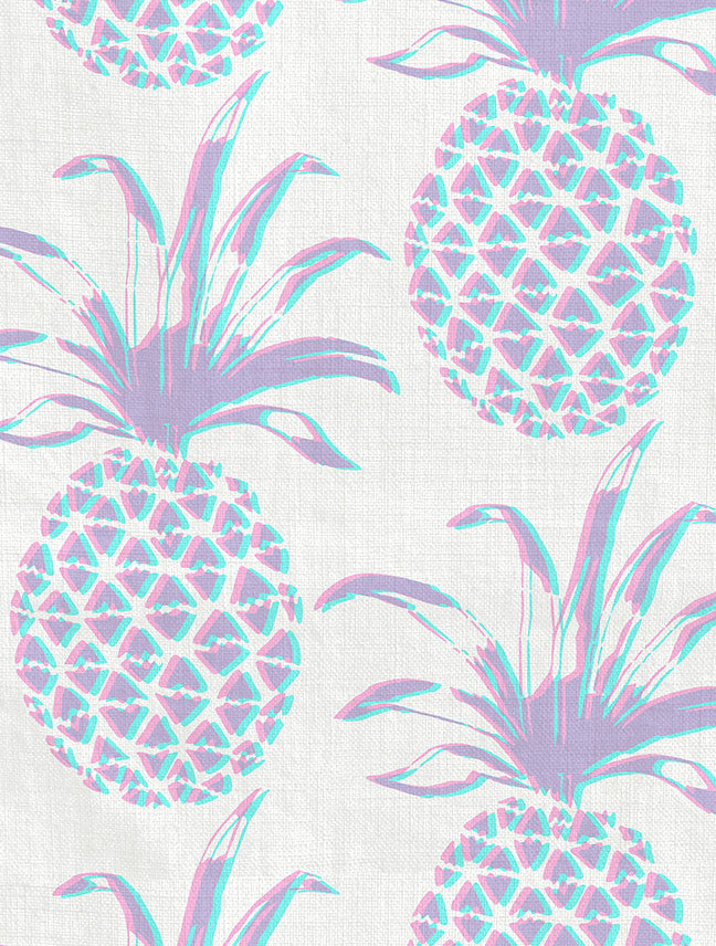 Sunrise pineapple piña home cute fruit summer welcome designer design wallpaper NYC brooklyn bespoke fabric