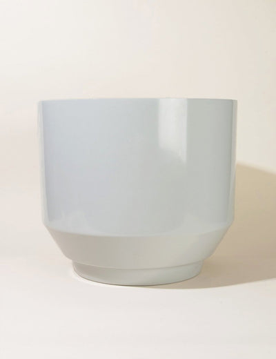 "16"" Spun Planter in Pale Grey"