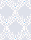 Leaf Damask Snow