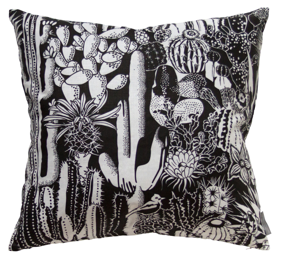 "Cactus Spirit Contrast - 22"" x 22"" Pillow"