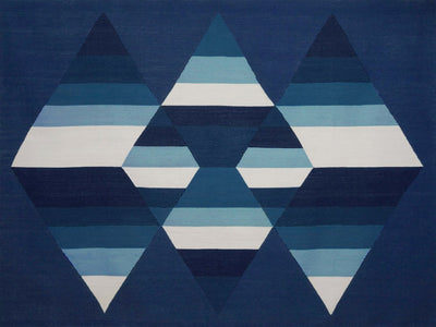 Prism Three Diamond Rug Indigo