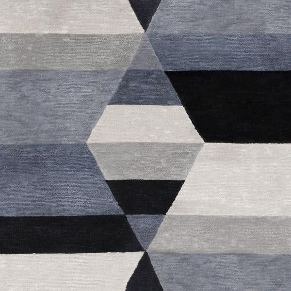Prism Two Diamond Square Rug Turbulence Silk