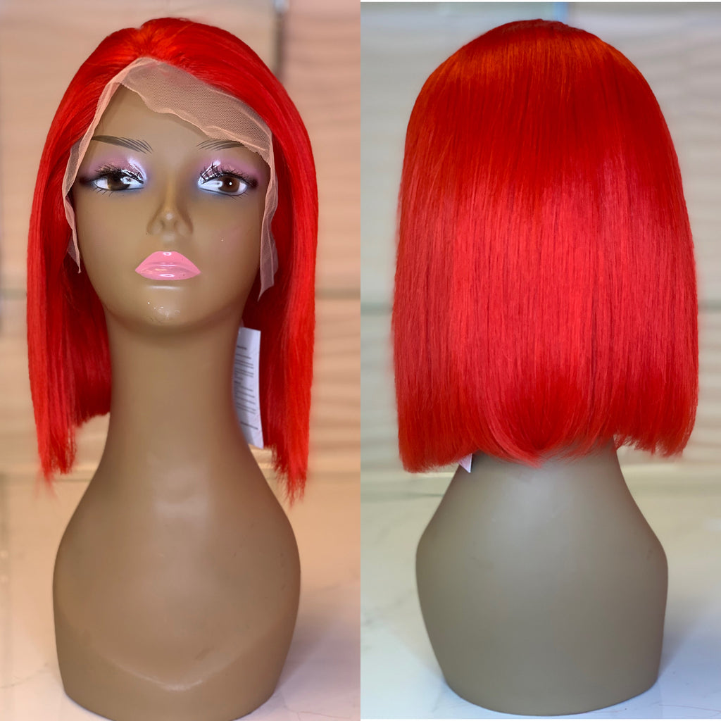 Bright Red Lace Wig