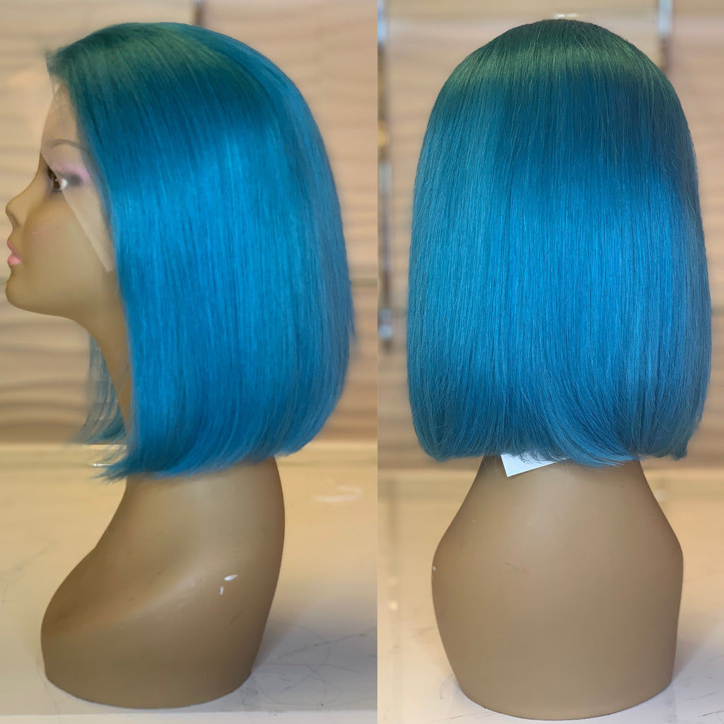 Turquoise Lace Wig