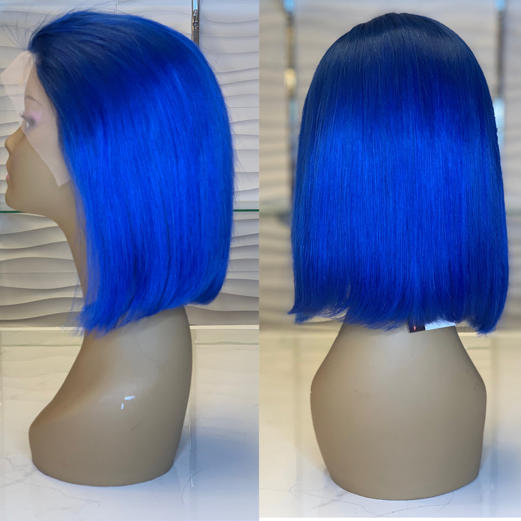 Royal Blue Lace Wig
