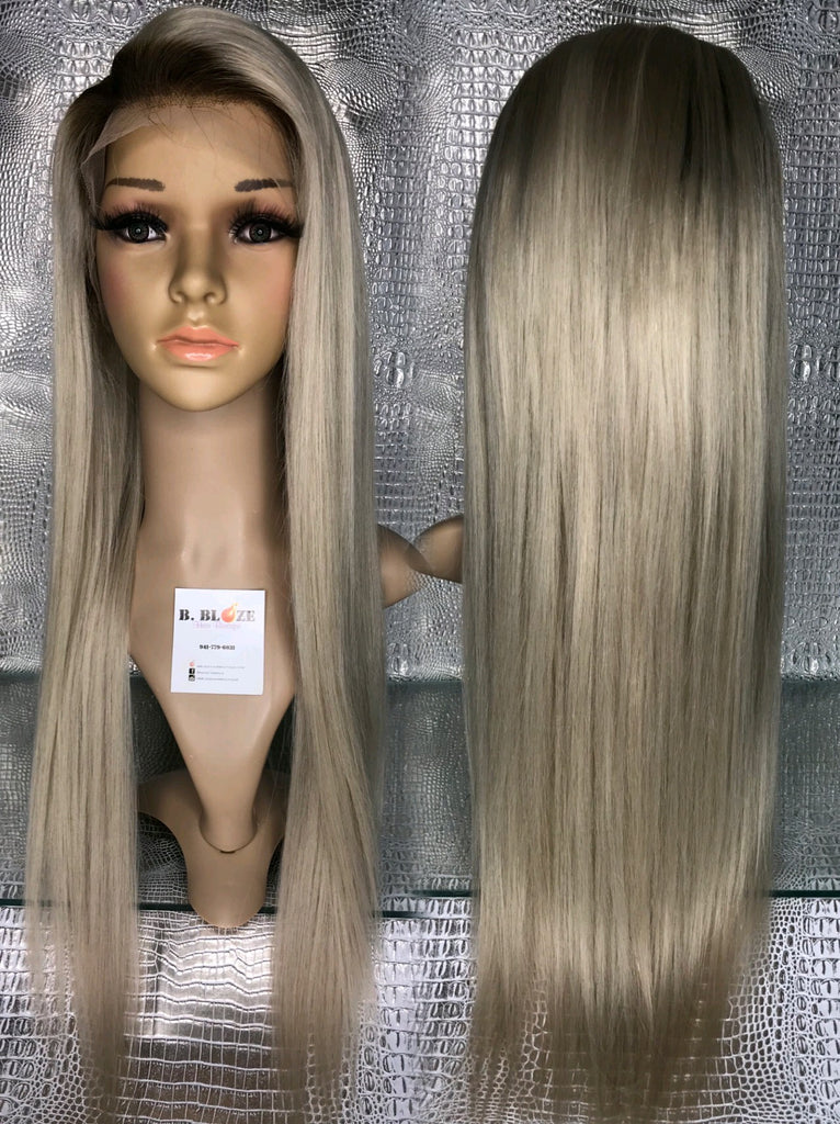 Ash Blonde 60/4 Straight Lace Wig
