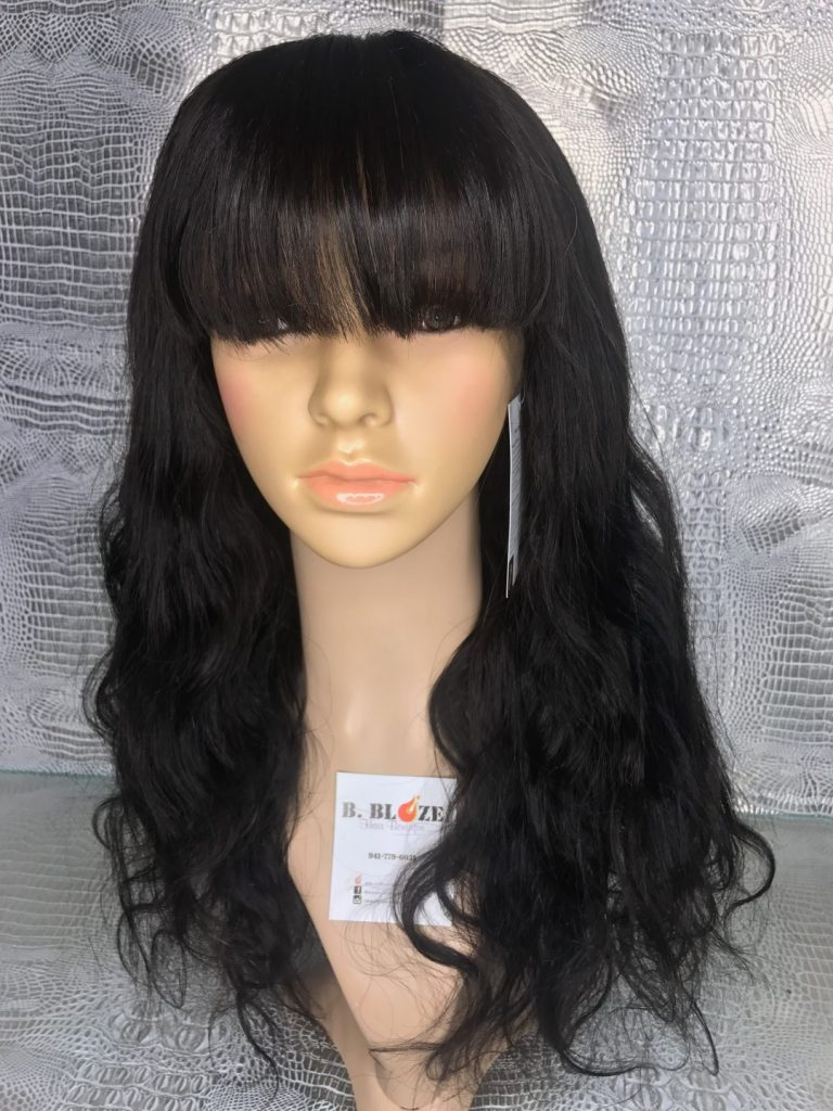 Chinese Bang Body Wave Lace Wig