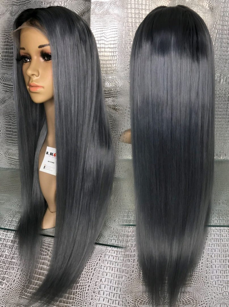 Dark Grey Lace Wig