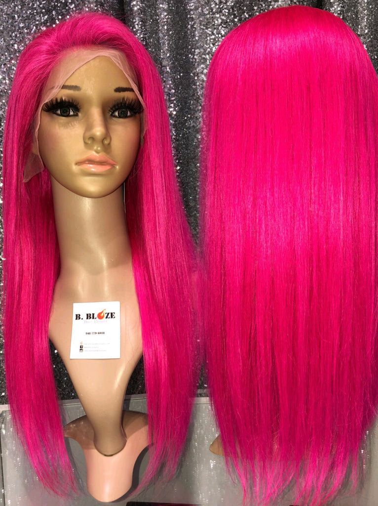 Hott Pink Lace Wig