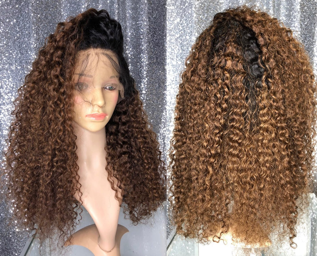 4/1B Kinky Curly Lace Wig