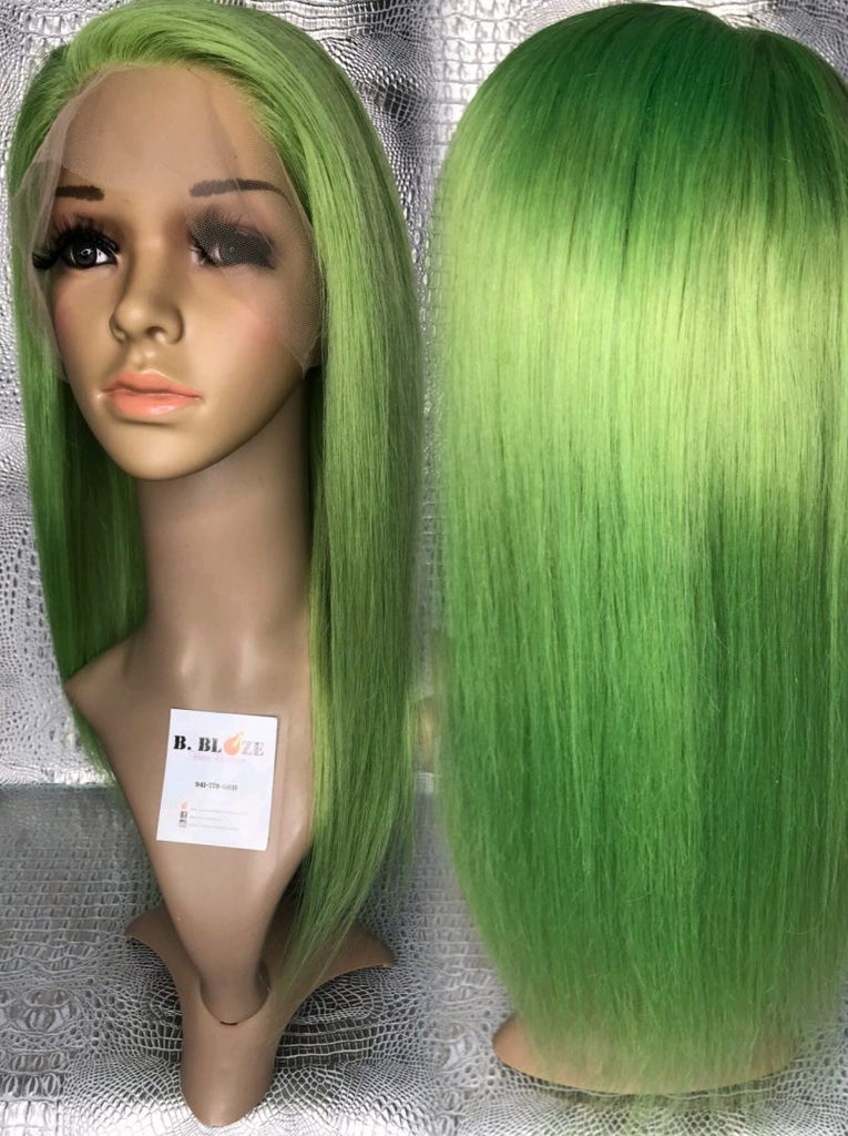 Lime Green Lace Wig