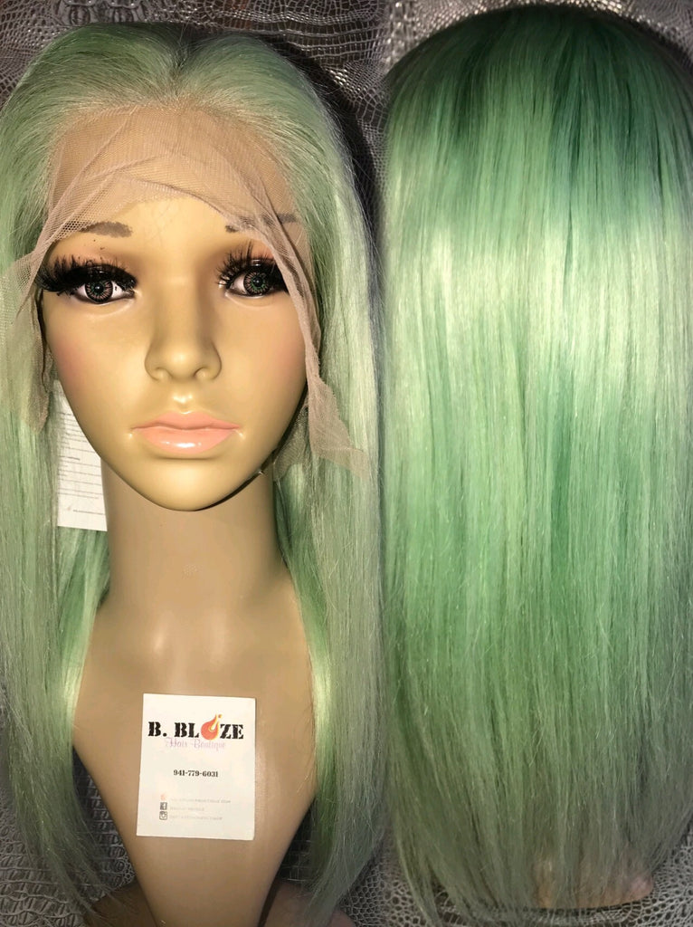 Pastel Turquoise Lace Wig