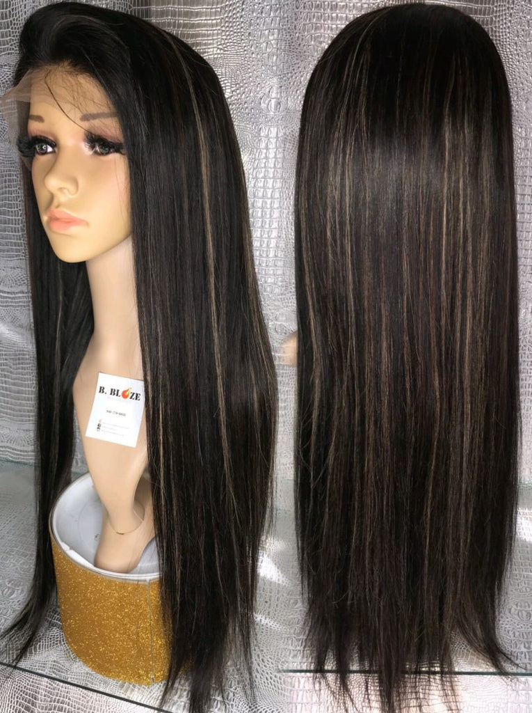 Black Highlights Lace Wig
