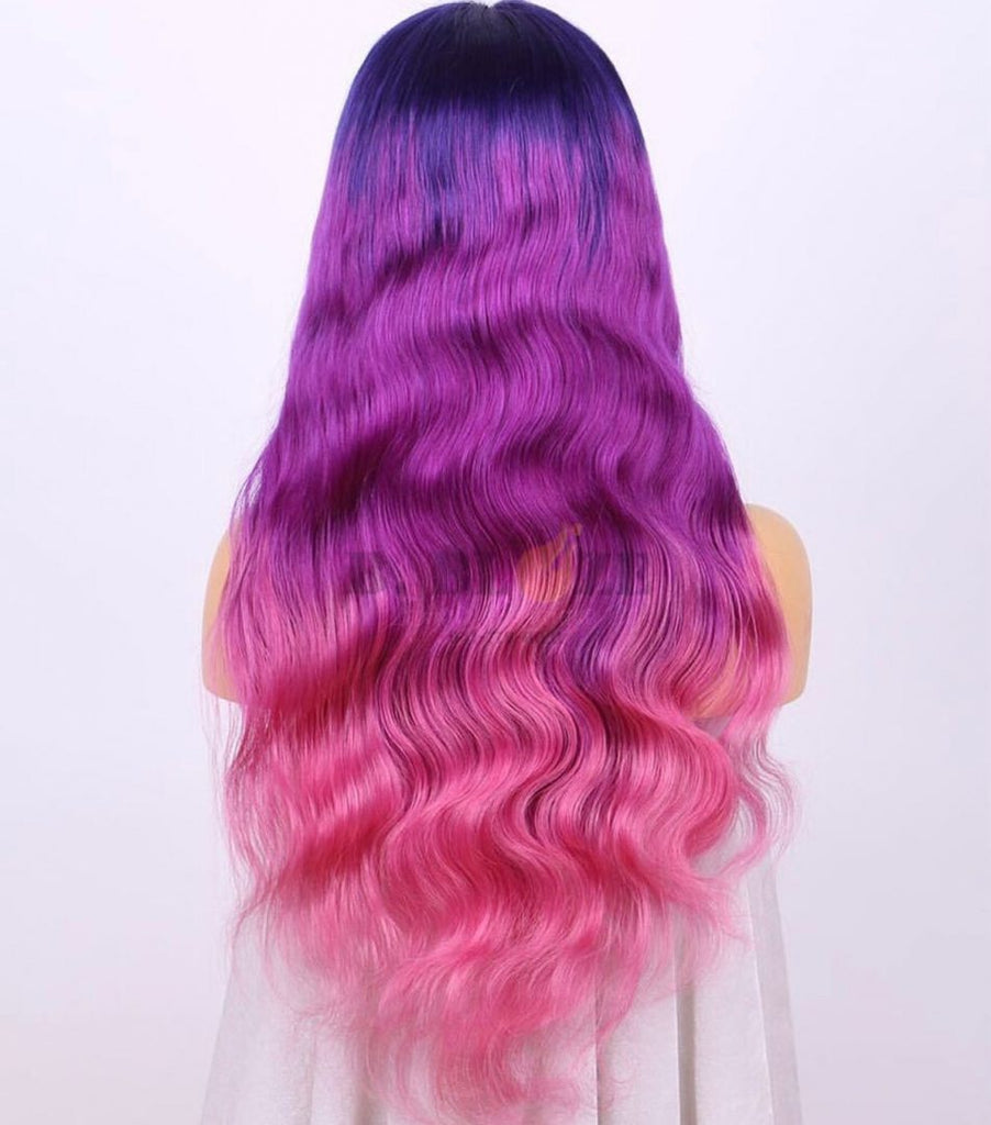 Purple/Pink Ombre Lace Wig