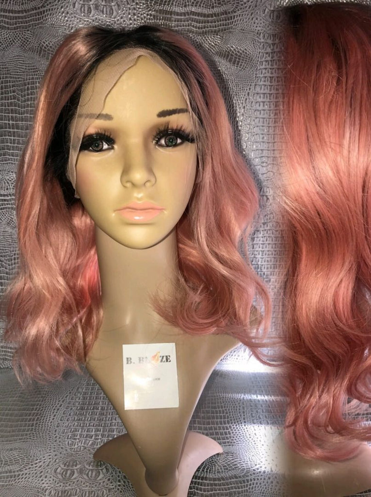 Rose Gold/1B Lace Wig