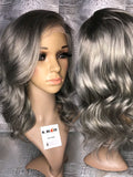Silver Body Wave Lace Wig