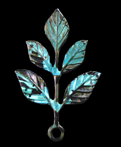 Five Leaf Drop in Verdigris