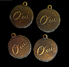 "Brass  Charms ""Oui""  or ""Non"""