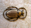 Antiqued Scarab Beetle Brass Stamping