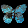 Brass Stamping Butterfly Beauty in Patina