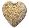 Embossed Heart Charms (2)