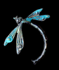 Art Deco Dragonfly With Verdigris Patina or an Oxidized Brass Finish