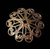 Flower Filigree, Domed (2)