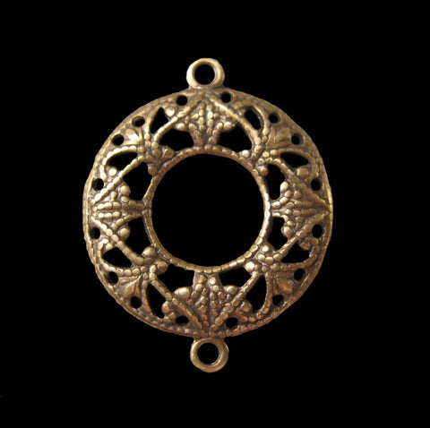 Filigree Ring Connector Brass Stamping (4)