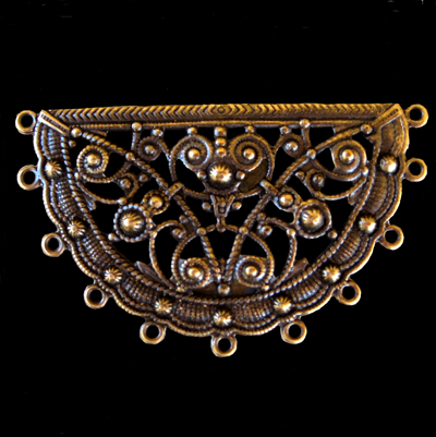 Half Circle with Many Rings Filigree