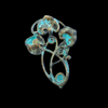 Art Nouveau Leaves with Swirling Vines in a Verdigris Finish
