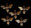 Brass Stampings of Busy Little Bees for your jewelry making needs