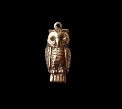 Owl Charm Brass Stamping (4)