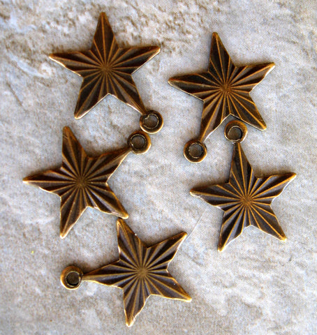 Small Star Brass Charms