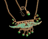 Idea!  How to use this brass stamping of angel wings with a verdigris finish.