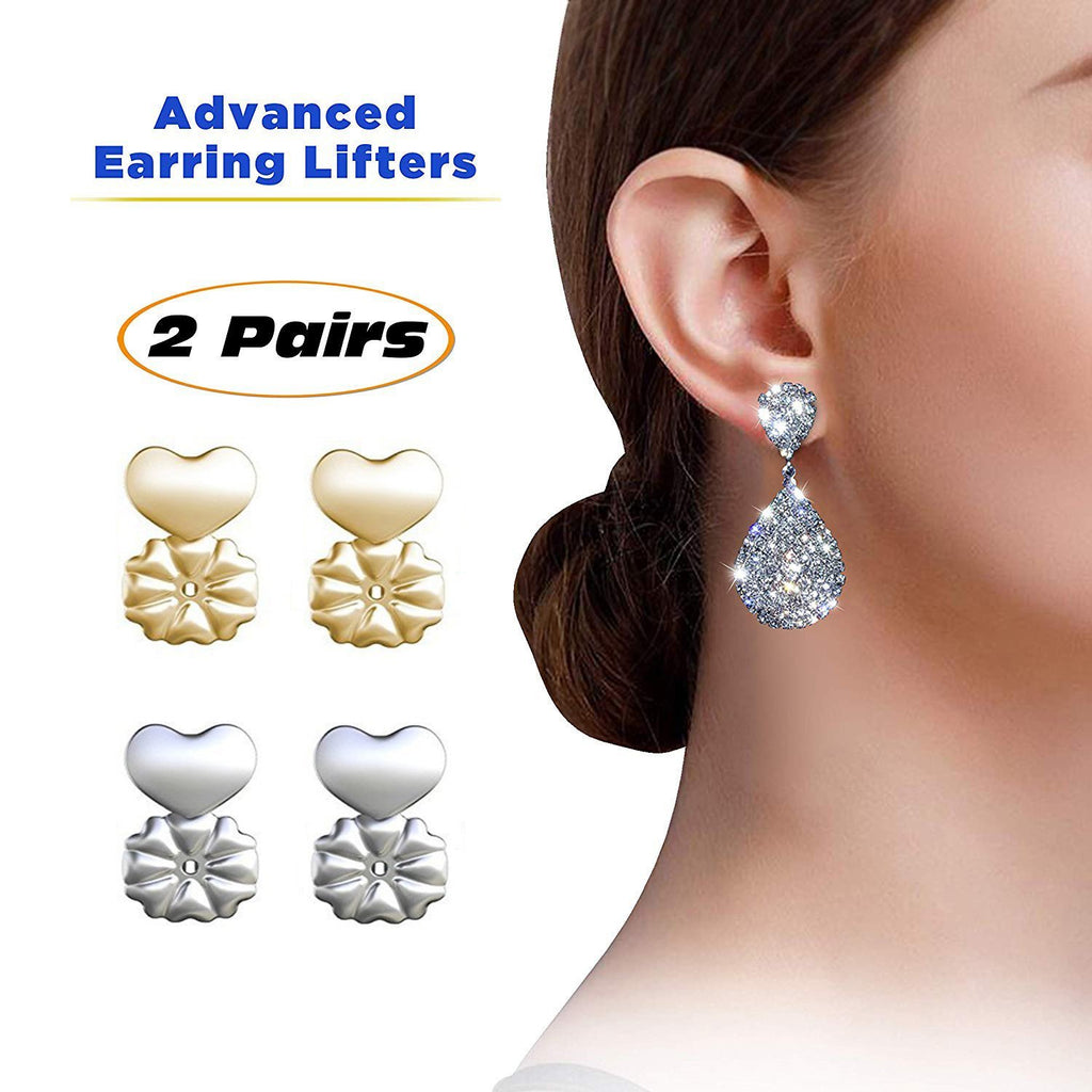 🔥 ON SALE 🔥 2 Pair Earring Lifts- Hypoallergenic