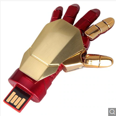 Iron Man Robot Flexible Palm Shaped USB Flash Disk