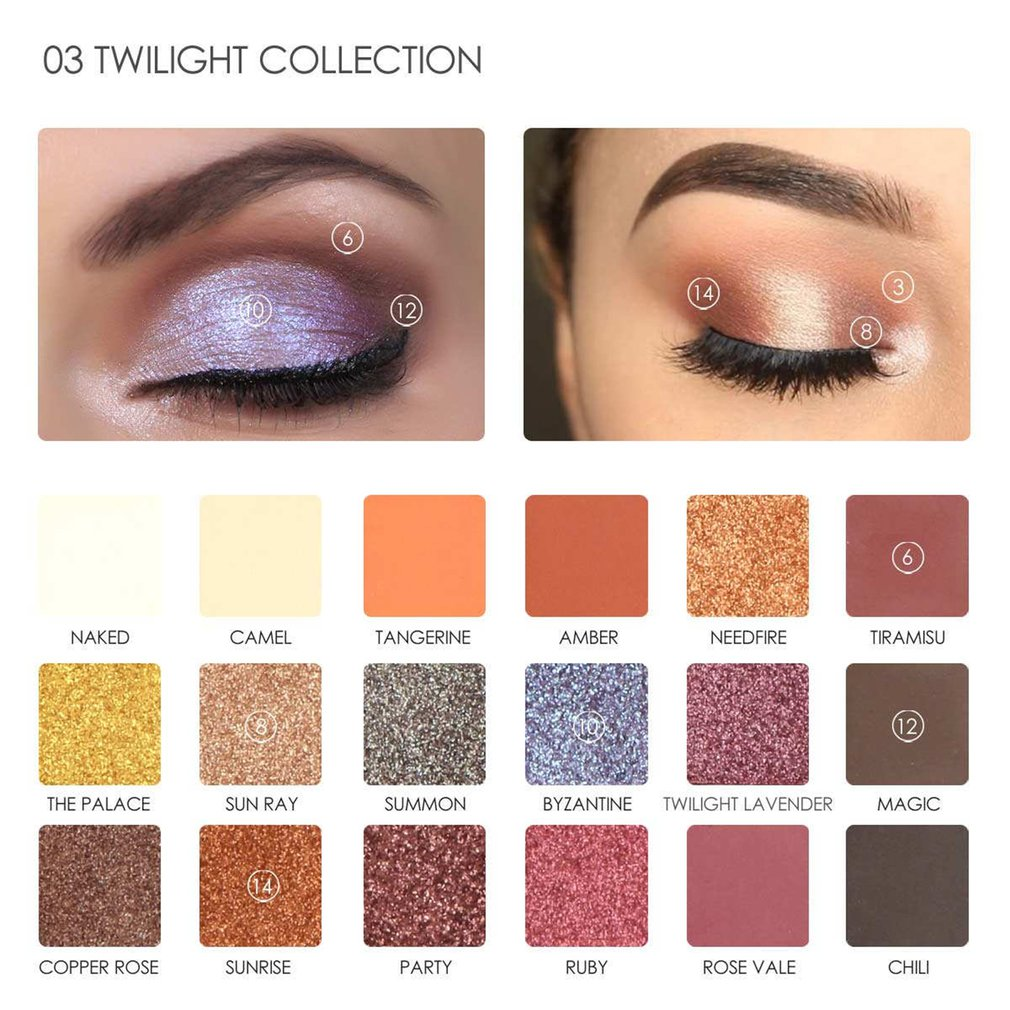 Fashion 18 Color Earth Tone Makeup Eyeshadow Palette Shimmer Eyeshadow Compact