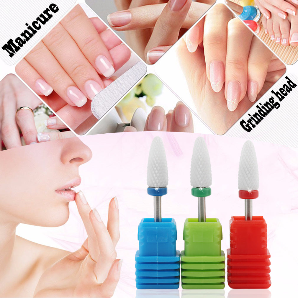 Nail Drill Bit Ceramic Callus Peel RemoveRotary Electric File Pedicure