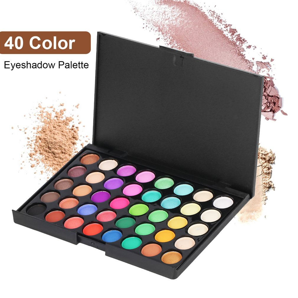 40 Colors Professional Women Facial Long Lasting Luminous Eyeshadow Palette