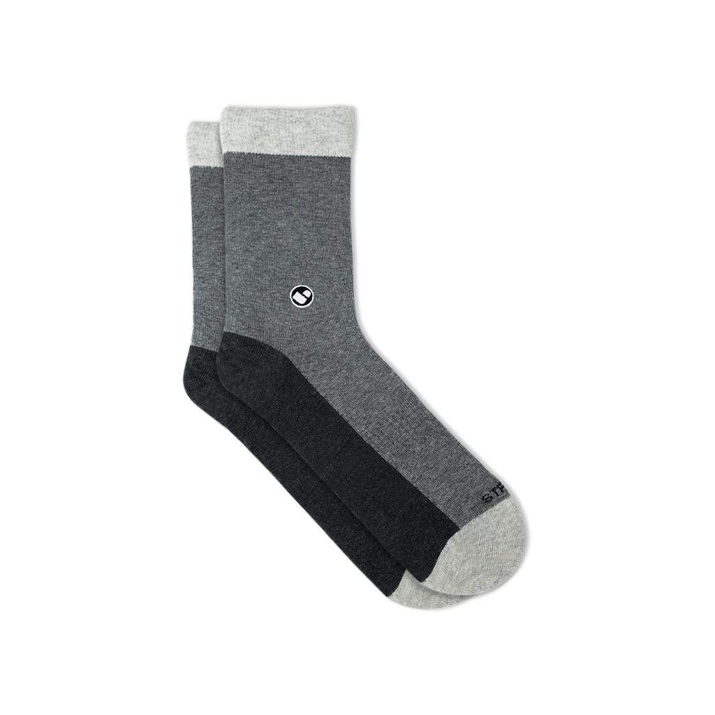 Mens All Light Greys Calf Sock