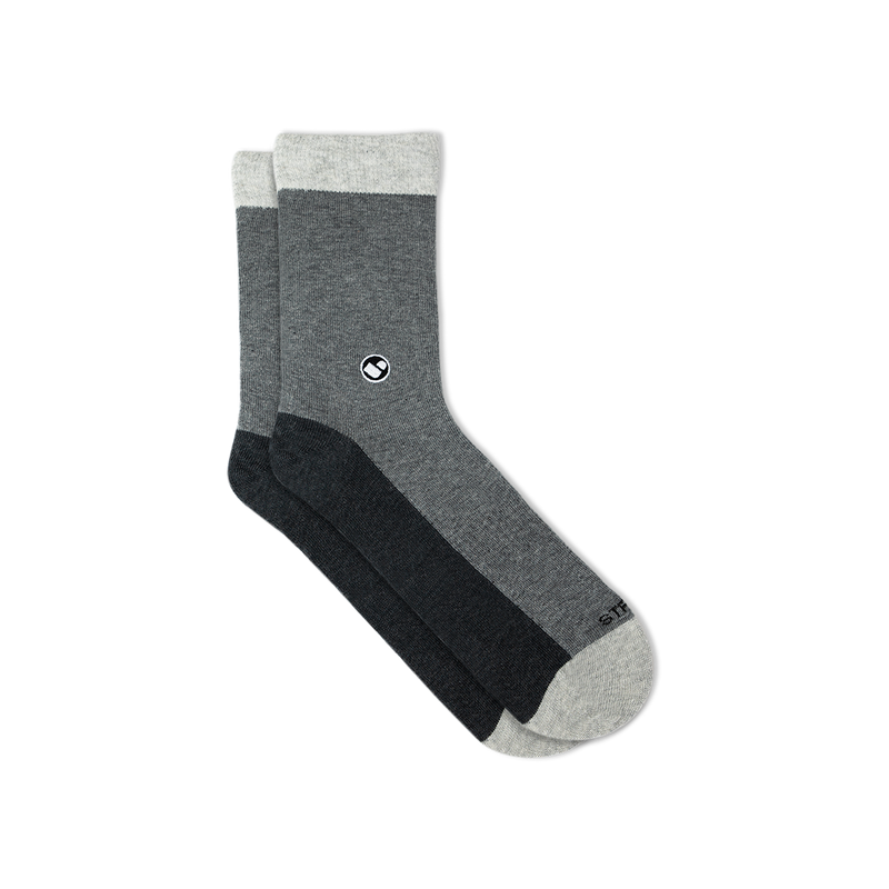 Womens All Light Greys Calf Sock