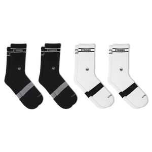 Womens Mixed Soft Cotton Crew Sock 4 Multipack