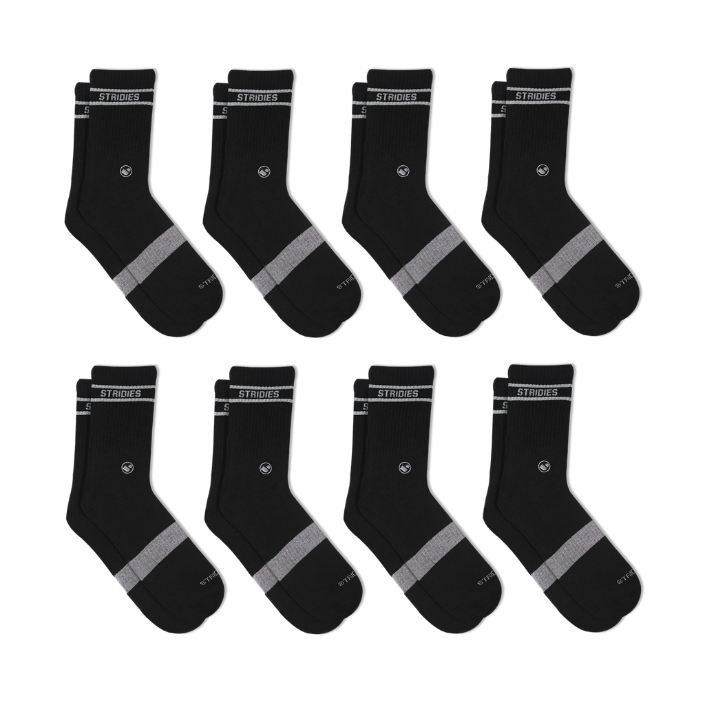 Womens Soft Cotton Crew Sock 8 Multipack