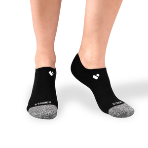 Womens Black No Show Socks